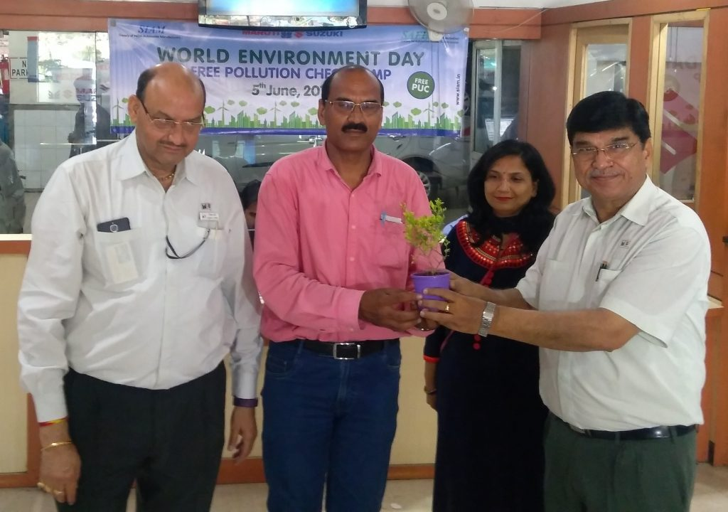 Sapling Distribution to Customers at Maruti Sales & Services Delhi